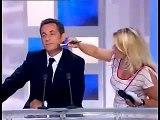 Nicolas Sarkozy en OFF avant une interview télévisée