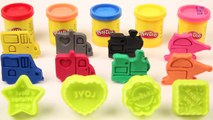 Learn Colors with Play Doh Moulds _ Kids Learning Videos _ Learn Colours with Vehicles Toys _ Toys