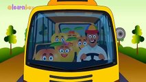 Wheels On The Bus | Mango Wheels On The Bus Songs | Cartoon Animation Wheels On The Bus Rhymes