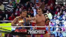Santino Marella & Vladimir Kozlov Vs. Jimmy & Jey Usos - WWE Monday Night RAW 17/01/2011