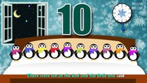 Ten Penguins In The Bed | Ten In The Bed Nursery Rhymes Cartoon Animation Songs With Lyrics