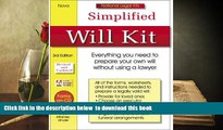 READ book  Simplified Will Kit: National Legal Kit Series (Simplified Will Kit (W/CD))  FREE BOOK