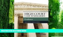 Read Online High Court Case Summaries on Evidence Keyed to Mueller Publisher s Editorial Staff