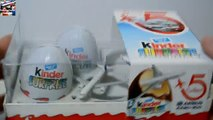 Airbus Kinder Surprise Eggs Toys Opening Special Kinder Airbus 330-300