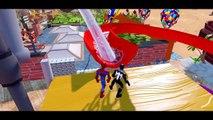 Black SpiderMan & SpiderMan with Disney Cars Pixar Lightning McQueen & Lightning McQueen Colors