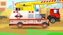 Ambulance Blanche - Dessins animés pour bébés - La Voiture Pour Enfants