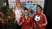 Las chicas de España desean Feliz Navidad y Próspero Año Nuevo
