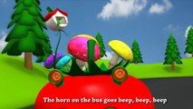 Tomato Wheels On The Bus Go Round and Round   Tomato Nursery Rhymes Collection For Babies