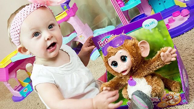 FurReal Friends Baby Cuddles My Giggly Monkey Pet Toy with Chloe!