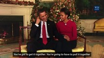 The Obamas deliver their last Christmas Address