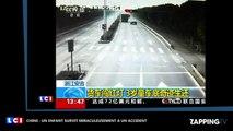 Chine : Un enfant survit miraculeusement à un terrible accident, les images chocs (Vidéo)
