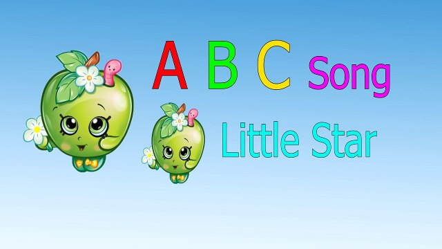 ABC Song ♥ Shopkins Apple ♥ Nursery rhymes song