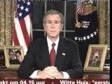 Bush Announce Iraq War Start(Banned In Usa)