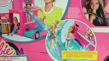 Camps de vacances Barbie – Camping car pour poupées avec cuisine, lit et chaises