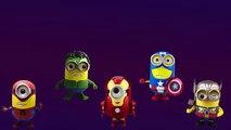 Minions Spiderman Cartoons Finger Family Children Nursery Rhymes   Minions Hulk Finger Family Rhyme