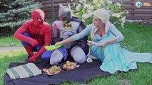 Joker with Frozen Elsa Spiderman vs Pink Spidey Girl Super Hero Funny video