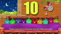 Ten Angry Birds In The Bed | Ten In Bed Nursery Rhymes Cartoon Animation Songs With Lyrics for Kids