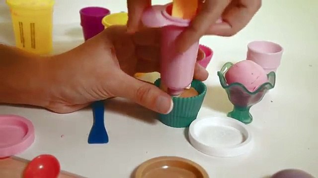 PLAY DOH Glaces et cupcakes Tuto ♥ PLAY DOH Ice creams and Cupcakes DIY