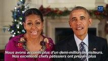 Les derniers voeux de Noël des Obama à la Maison Blanche