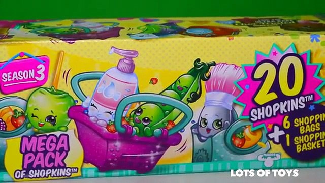 Shopkins Mega Pack Season 3 Includes 20 Shopkins and Surprises by Lots of Toys