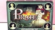 Déterrer un squelette de pirate! Squelette terrifiant - Kit pour déterrer un pirate