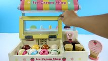 MAGNETIC ICE CREAM Shop with Ice-Cream Scoop - Tasty Flavors and Powerful Magnets