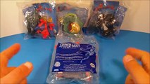 2009 THE SPECTACULAR SPIDER-MAN ANIMATED SERIES SET OF 4 BURGER KING KID S MEAL TOY S VIDEO REVIEW