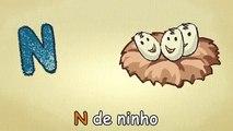 A Música do alfabeto - ABC em portugues - N-Canção - alfabeto canções infantis