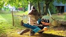 PJ Masks Luna Girl and Romeo Pranked by Dinosaur In Real Life - Paw Patrol, Joker and Captain Hook