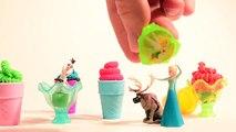 La Reine des Neiges Play Doh, Anna Elsa et Olaf ❄ Jouet de la reine des neiges ❄ FROZEN en français
