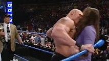Wwe 2016 Brock Lesnar KISS Stephanie Mcmahon Emocional Match Look the Eyes of Stephanie McMahon