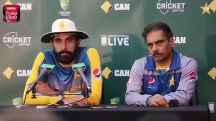 2nd test match press conference With Misbah , Australia 2016