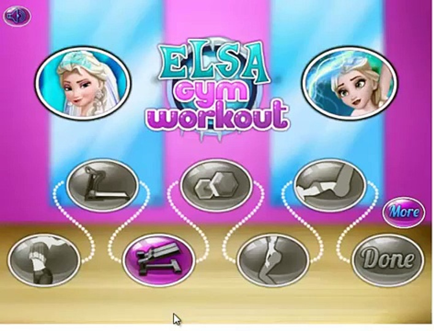 Frozen Elsa Disney- Frozens Sport Dressup Gym Workout videos Games for Kids
