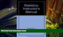 PDF [FREE] DOWNLOAD  Statistics (Instructors Manual) BOOK ONLINE