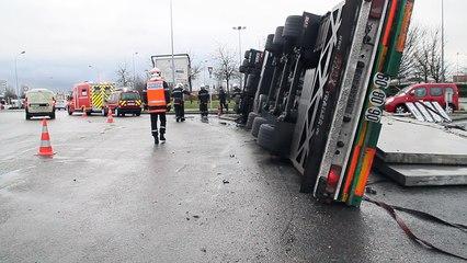 Beauvais : accident au rond point Brisson