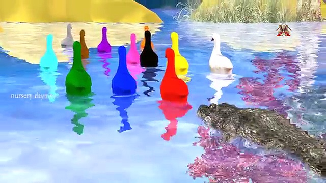 Colors Song || Lets Learn Colors With DUCKS & CROCODILE || Explore Colors With DUCKS AND CROCODILE