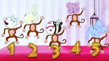 Kids Song TV and Nursery Rhymes - 5 Peppa Pig Jumping and Farting on the Bed