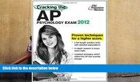 Best Price Cracking the AP Psychology Exam, 2012 Edition (College Test Preparation) Princeton