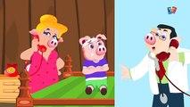 cinq petits cochons | chansons denfants en français | Five Little Piggies
