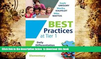 Free [PDF] Downlaod  Best Practices at Tier 1: Daily Differentiation for Effective Instruction,
