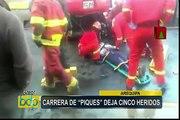 Arequipa: carrera de 'piques' deja cinco heridos
