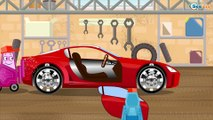 Car Cartoon. Racing Cars - Extreme Race with obstacles. Cars Cartoons for children Episode 1
