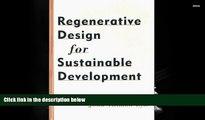 Price Regenerative Design for Sustainable Development (Wiley Series in Sustainable Design) John