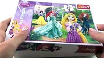 Disney Princesses Puzzle with Play Doh Butterflies - Eggs and Toys TV