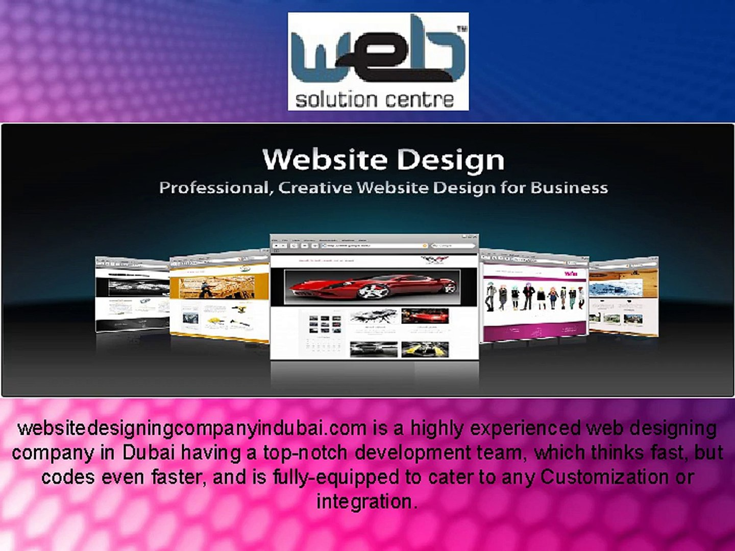 Website Designing Company In Dubai Video Dailymotion