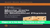 [PDF Télécharger] MONTE CARLO SIMULATION IN STATISTICAL PHYSICS Audiobook Télécharger
