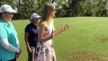 Watch US President Donald Trumps Daughter Ivanka Smoke A Golf Ball - While While Wearing Heels!