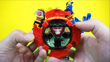 Power Rangers Ninja Force Toys - Ninja King, Lion Emperor, Volcano Sword Review 파워레인저 닌자포스 장난감 전제품 닌자킹 라이온엠퍼러 볼케이노검 동영상