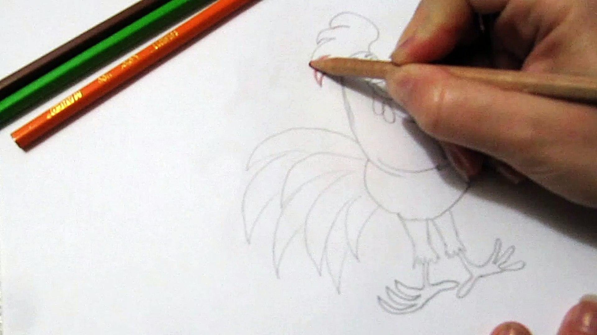 Как рисовать животного по гороскопу 2017 Петух How to Draw an animal horoscope Rooster 2017