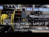 CNC punching line. Roll forming machine